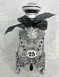Artfully Musing: French Themed Altered Bottles Tutorial - Bottle Patinas & Applying Vellum & Transparency Film