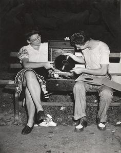 Weegee, After midnight in Washington Square, Folk Dance, ca. 1946  via