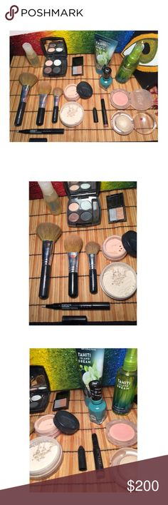 High End Makeup/Beauty Bundle ALL NEW OR SAMPLED DONT BUY LISTING!!! LET ME KNOW WHAT YOU LIKE AND ILL MAKE A SEPARATE LISTING✅Octavio Argan Oil ✅Avon Eyeshadow Quad ✅Glamour Dolls Double Trouble Eyeshadow: New Dress ✅3 bare minerals Flawless Face Brushes: various sizes ✅Bare Minerals Org. Mineral Veil ✅Sheer Cover Finishing Powder: Light ✅Avon Brightening Concealer ✅TrèStique Matte Lip Crayon: Nantucket Nude ✅ULTA cheek color ✅Milani Eyeshadow: Golden Touch ✅Sally Hansen Miracle Gel: S-Teal…