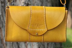 VanHook & Co.: Yellow Leather Purse with Convertible Strap