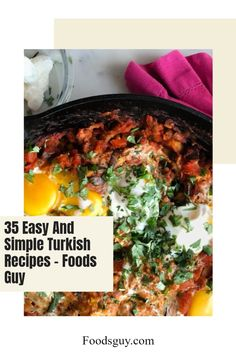 Trying out new cuisines can introduce you to a whole world of new meals and flavors, not to mention new cooking skills you might not have even known you were missing out on! If you are a fan of Turkish cuisine or are wanting to try something new, here are 35 easy and simple Turkish recipes that anyone can make. Try out some appetizers, entrées, or desserts, and start building up your Turkish cuisine cooking skills! Turkish Spices, New Recipes, Dinner Recipes, Turkish Recipes, Ethnic Recipes, New Cooking, Vegetarian Options, Stuffed Green Peppers, Original Recipe