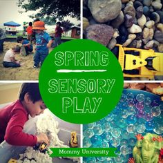 4 SPRING SENSORY-BASED ACTIVITIES (sensory play) by Mommy University at www.mommyuniversitynj.com #sensorybins Sensory Toys, Sensory Activities, Learning Activities, Activities For Kids, Messy Art, Messy Play, Finger Painting, Cool Diy Projects, University