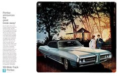 1969 ad for the Pontiac Bonneville with illustration by the talented Art Fitzpatrick.