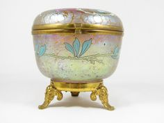 Loetz enameled candia papillon footed jar ca. 1898 PN II-861