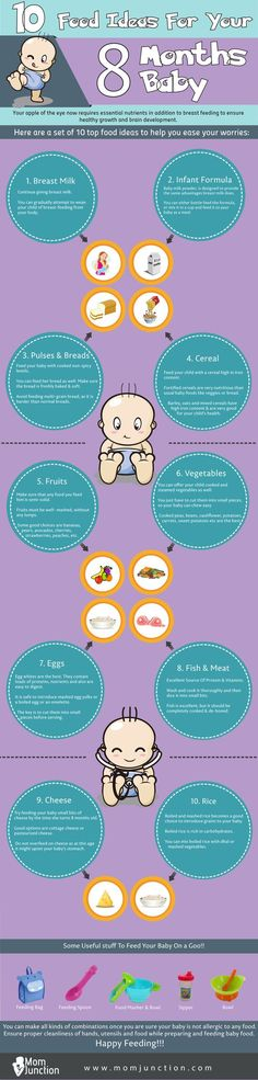 Top 10 Food Ideas For Your 8 Months Baby