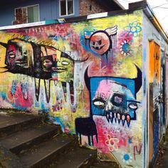 Graffiti in Hawthorne District Portland, OR