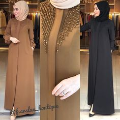 Hijab Fashion Summer, Modest Fashion Hijab, Abaya Fashion, Muslim Fashion, Kimono Fashion, Fashion Dresses, Fashion Clothes, Girl Fashion, Fashion Design