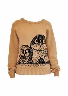 Owls. Fun casual sweater.  Not big on sweaters, but I Iike this.