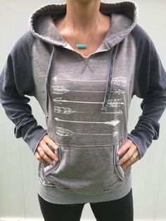 Arrow sweatshirt, Arrow Hoodie,Birthday gift, Slouchy top, Xmas gift, comfy sweatshirt, vintage top, vintage hoodie, western shirt, country