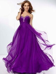 Beautiful Sweetheart Neckline Empire Full Length Purple Chiffon Plus Size Evening Dresses With Ruffles