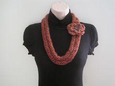 Necklace, Neck warmer, crochet & knit - driftwood (NL5)