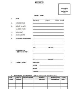 6 Simple biodata format for job application Resume Format Free Download, Biodata Format Download, Curriculum Vitae Template Free, Job Application Sample, Bio Data For Marriage, Sample Resume Format, Best Quotes Images, Jobs For Teachers, Word Free