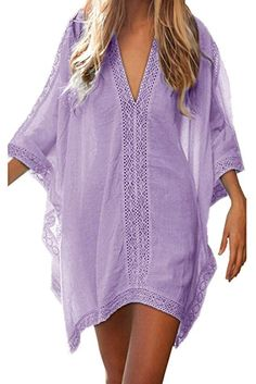 74310c41b4ae8 Walant Womens Solid Oversized Beach Cover up Swimsuit Bathing Suit Beach  Dress #Cover-Ups