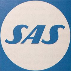 I see some similarities with Finnairs old logo and color by Kyösti Varis. These old ones are better :) Scandinavian Airlines System logotype