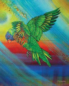 Pamela Kirkham of Kirkham Fine Arts creates stunning paintings of nature's wonders. Bergen, Wire Hangers, Nature Paintings, Large Painting, A Table, I Am Awesome, Mosaic, Moose Art, Rainbow