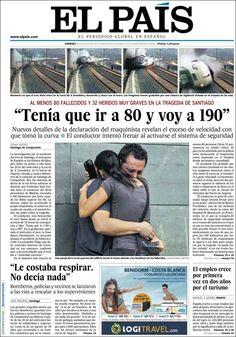 El País (España) on Santiago train crash