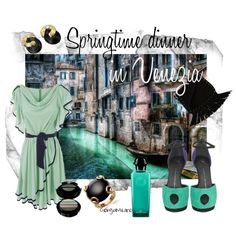 """""""Dinner in Venice"""" by furettina on Polyvore"""