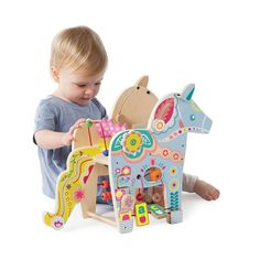 Wood Dala Horse Activity Toy for 1 year olds: Manhattan Toy | Manhattan Toy