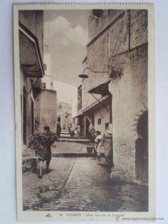 POSTAL TANGER, UNA CALLE DE LA CASBAH, AÑO 1942