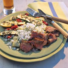 Garlic Flank Steak | MyRecipes.com.  Another super easy recipe that's pretty good.