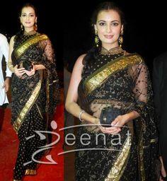 black n gold blouse..