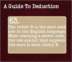A Guide to Deduction by cherry This is also why rolling codes are better. Writing Advice, Writing Help, Writing Prompts, Guide To Manipulation, Detective, A Guide To Deduction, The Science Of Deduction, How To Read People, Secret Code