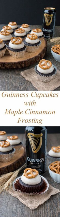 guinness cupcakes with bailey's frosting | recette | petit gateau
