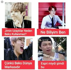 """Read Bangtan boys from the story Bts by JeonKukuu (""""JK"""") with 215 reads. Bts Meme Faces, Bts Memes, Foto Jungkook, Foto Bts, Bts Funny Moments, Funny Times, Bts Funny Videos, Bts And Exo, Funny Comedy"""