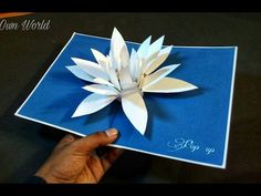DIY Flower Pop up Card-Paper Crafts-Handmade Craft- Mother's Day card! Pop Up Flower Cards, Pop Up Flowers, Pop Up Cards, Paper Flowers, Pop Up Karten, Origami Cards, Paper Pop, Mother's Day Diy, Fancy Fold Cards