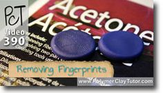 How To Remove Fingerprints From Polymer Clay Using Acetone. Video If you cant avoid getting finger prints on your polymer clay in the first place, acetone will get rid of them . Topics Covered In This Video: * Polymer Clay Tools, Sculpey Clay, Polymer Clay Canes, Polymer Clay Miniatures, Polymer Clay Creations, Polymer Clay Jewelry, Clay Clay, Clay Projects, Clay Crafts