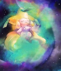 Jirachi nearly Rainbow Colours. ❤