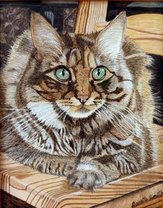 Pet Portraits -        Danette Smiths Pyrography and Easels