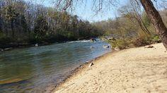 Sandy beach along the Rappahannock River in Virginia
