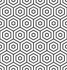 Hexagons texture. Seamless geometric pattern. — Stock Vector ...