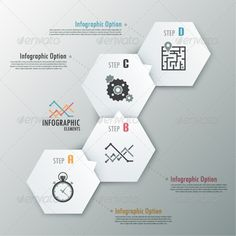 Modern Infographic Options Banner With Polygons