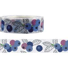 15mm x 15m washi masking tape - Funtape - blueberry 9320257