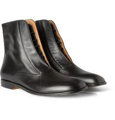 Maison Martin MargielaConcealed-Lace Up Leather Boots|MR PORTER