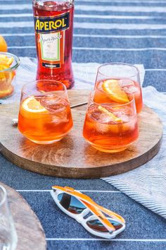 Aperol Spritz by HonestlyYUM @AperolUSA #SpritzBreak  Ingredients: 3 parts prosecco 2 parts Aperol 1 part sparkling water orange slice for garnish Directions: Add prosecco, Aperol, and sparkling water to a wine glass with ice. Stir to combine, garnish with an orange slice and serve!