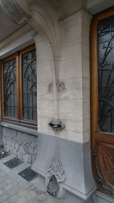 Architectural Details of Brussels Art Nouveau Townhouse