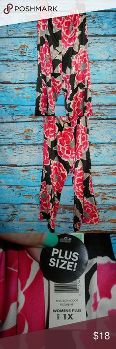 Gorgeous Soft Floral Pants These pants are so beautiful and soft. They are brand new and still have the original tag. They are approximately 40 inches in width and approximately 41 inches in length. Attention Pants