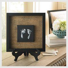 Footprints in a frame keepsake via @Michaels Stores