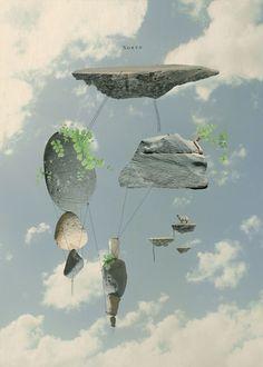 Photographic artwork of sky and stones in a surreal scene. | Tom Reznikov