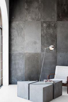Wall Concrete Design Entrance Ideas For 2019 Concrete Interiors, Concrete Furniture, Concrete Wood, Concrete Design, Tv Furniture, Concrete Wall Panels, Metal Wall Panel, Cement Walls, Wall Design