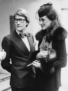 ♔ Yves Saint Laurent and Marisa Berenson ~ Mid 1970's