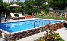Vinyl pool for the back yard I can afford!! Islander Pools - Secard Pools