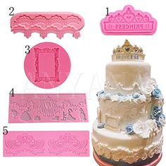 Anyana 5pcs Border crown frame silicone mold fondant mold cake decorating tools chocolate gumpaste mold *** Click for Special Deals #SiliconeBakeware Fondant Molds, Cake Mold, Silicone Bakeware, Silicone Molds, Cake Decorating Tools, Special Deals, Gum Paste, Cupcake Toppers, Polymer Clay