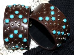 Southwest Turquoise Silver Cuff Bracelet. SOUTHWEST Collection. www.2rustynails.etsy.com