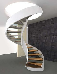 Use these awesome spiral staircase in your home. Over thirty spiral staircase ideas you can implement in your design. Feed your design ideas now. Staircase Architecture, Staircase Design, Architecture Design, Staircase Ideas, Small Staircase, Stair Design, Contemporary Stairs, Modern Stairs, Front Hallway