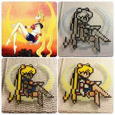 Sailor Moon hama mini beads by b.dawg.skip