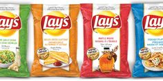 Lay's Canada features Creamy Garlic Ceasar, Grilled Cheese and Ketchup, Maple Moose, & Perogy Platter flavors